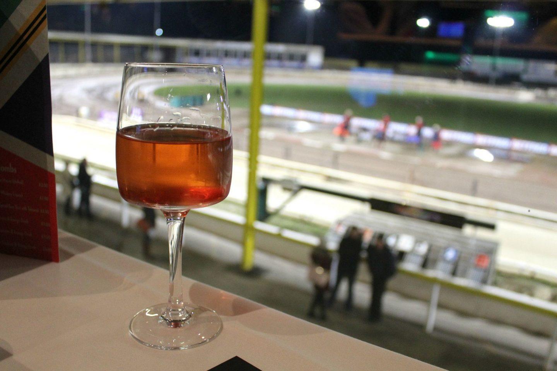 glass of wine at owelerton stadium