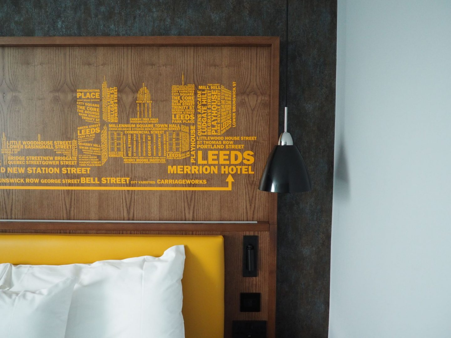 The Whole Hotel Is Themed Around Leeds Yorkshire With City Art From Local Artists On Display And Sayings Embedded Into Interior Design Of