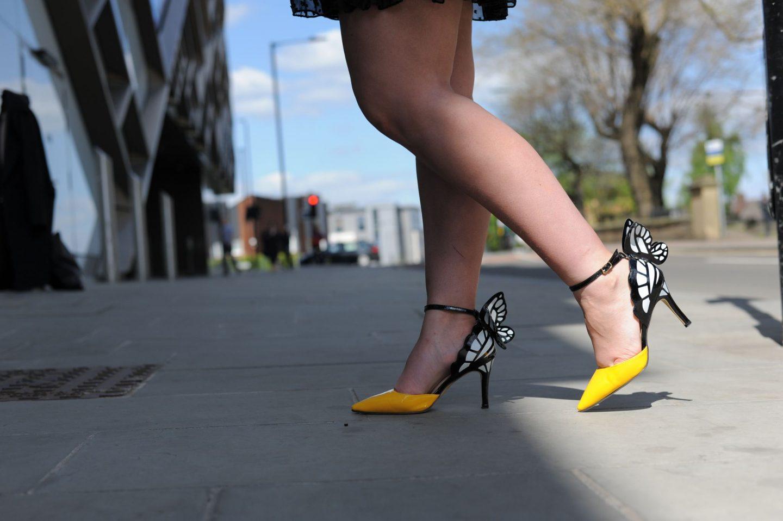 sophia webster style yellow black white butterfly heels ebay
