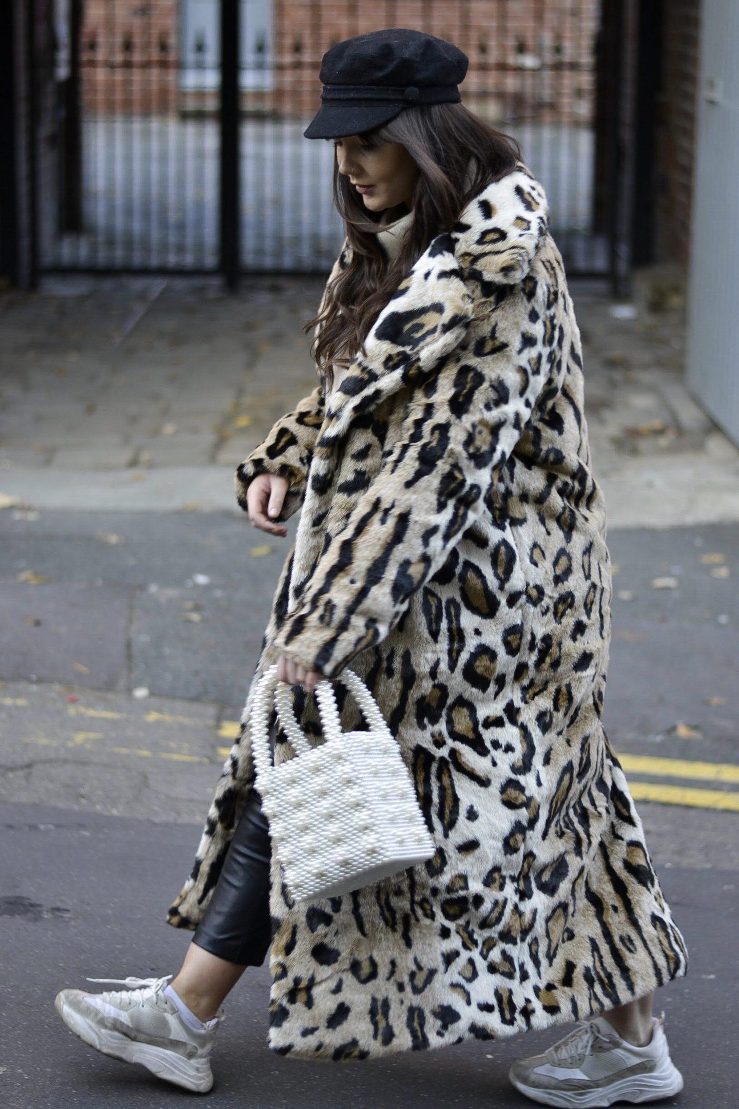 NA-KD leopard print fur coat Hannah McCreesh lifestyle blogger